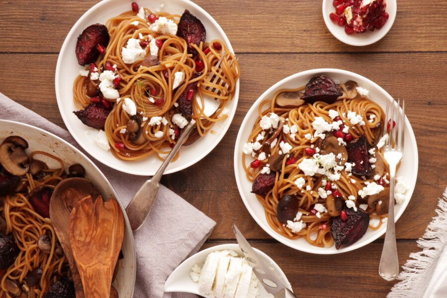 How to serve Caramelized Balsamic Goat Cheese Pasta