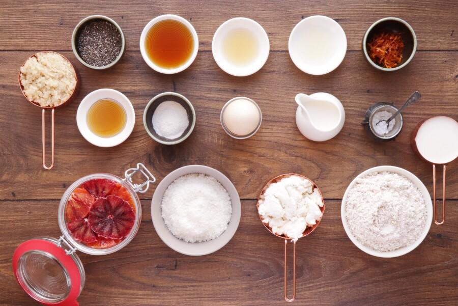 Ingridiens for Coconut Quinoa Pancakes