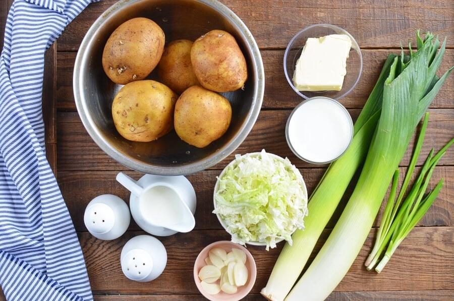 Ingridiens for Colcannon Recipe