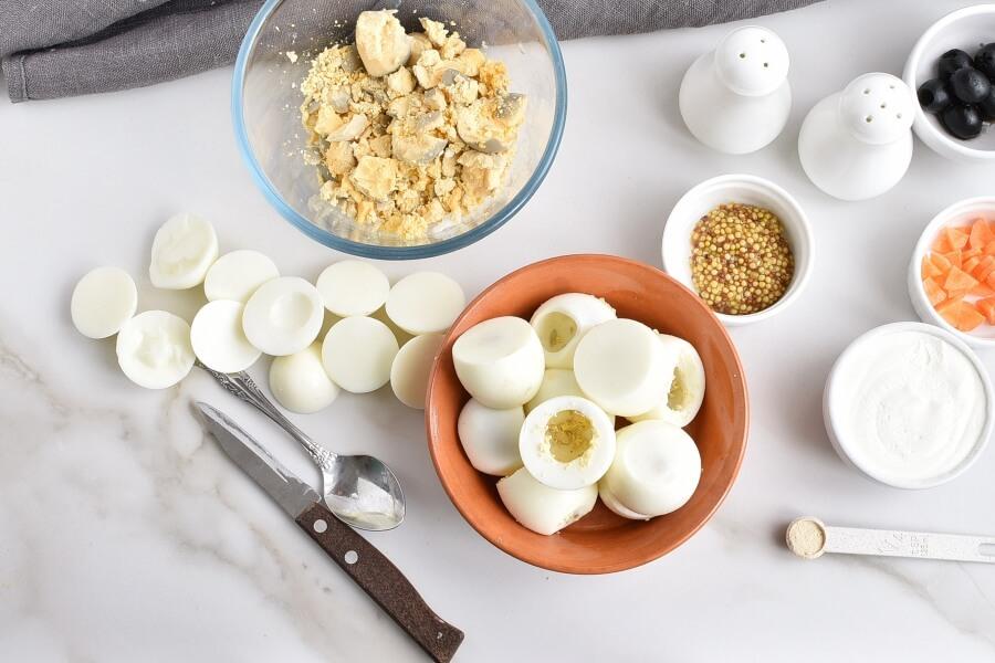 Easter Egg: Deviled Egg Chicks recipe - step 1