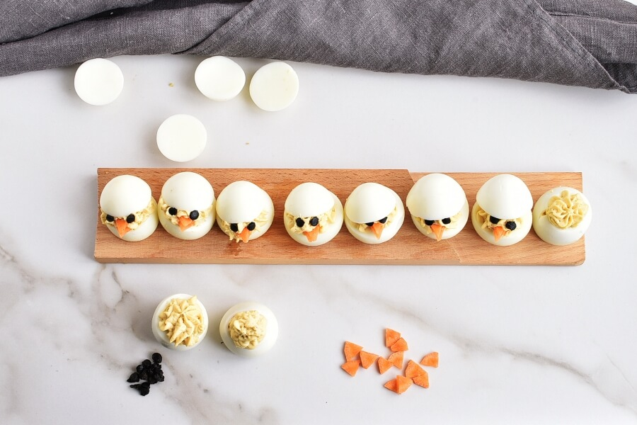 Easter Egg: Deviled Egg Chicks recipe - step 5