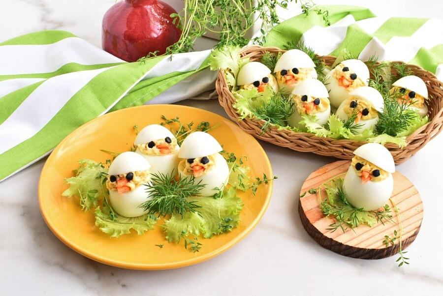 Easter Egg Deviled Egg Chicks Recipes-Homemade Easter Egg Deviled Egg Chicks-Easy Easter Egg Deviled Egg Chicks