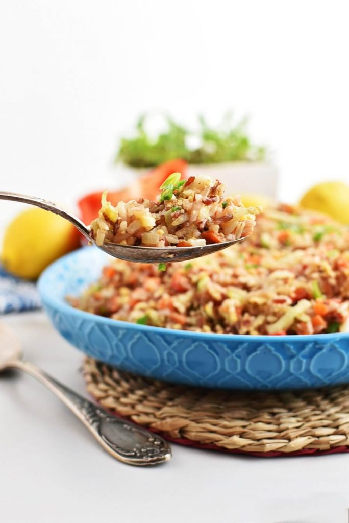 Mixed Veg Rice with Coconut Aminos