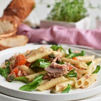 Easy Penne and Tuna Salad Recipes-Homemade Easy Penne and Tuna Salad-Easy Penne and Tuna Salad