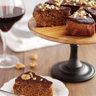 Flourless Walnut-Date Cake for Passover Recipe-Passover Cake-Easy Flourless Cake