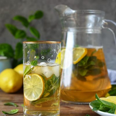Freshly Brewed Ice Tea With Fresh Mint Recipe-How To Make Freshly Brewed Ice Tea With Fresh Mint-Homemade Freshly Brewed Ice Tea With Fresh Mint