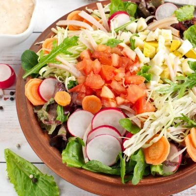 Garden-Fresh Chef Salad recipe-Delicious Garden-Fresh Salad-How to make Garden-Fresh Chef Salad