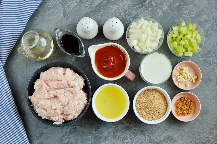 Ingridiens for Healthy Makeover Meatloaf