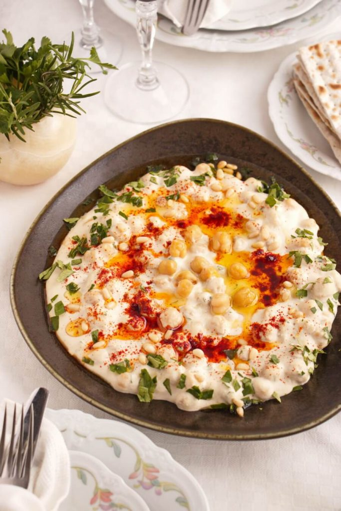 Hummus Masabacha (Hummus with Whole Chickpeas) Recipe-Israeli Hummus-Israeli Hummus with Paprika and Whole Chickpeas