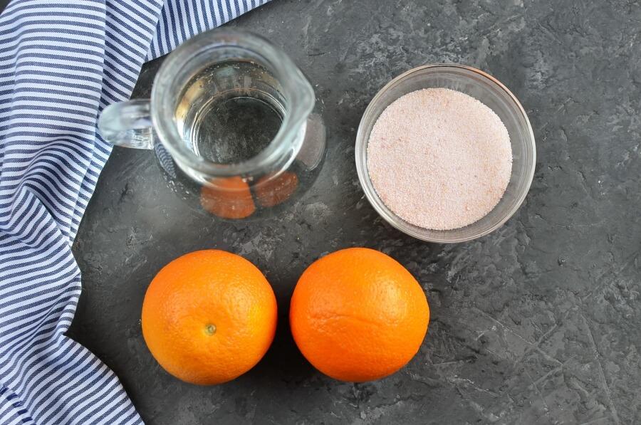 Ingridiens for Jello Oranges