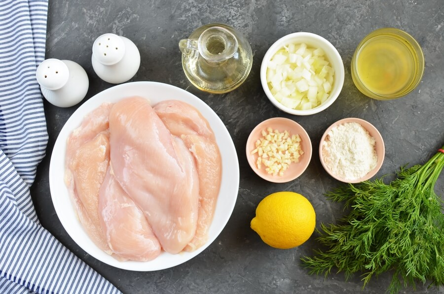 Ingridiens for Lemon and Dill Chicken