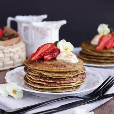 Matcha Protein Pancakes Recipe-Vegan Matcha Protein Pancakes-Healthy Matcha Protein Pancakes