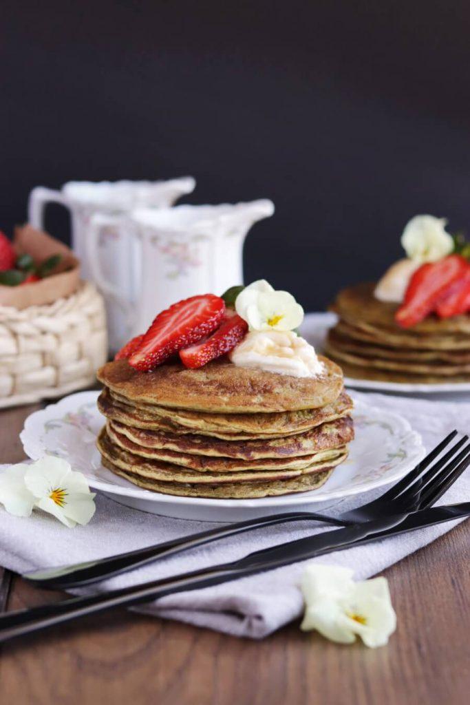 Matcha Protein Pancakes