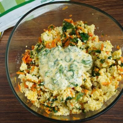Millet Cakes with Carrots & Spinach recipe - step 6
