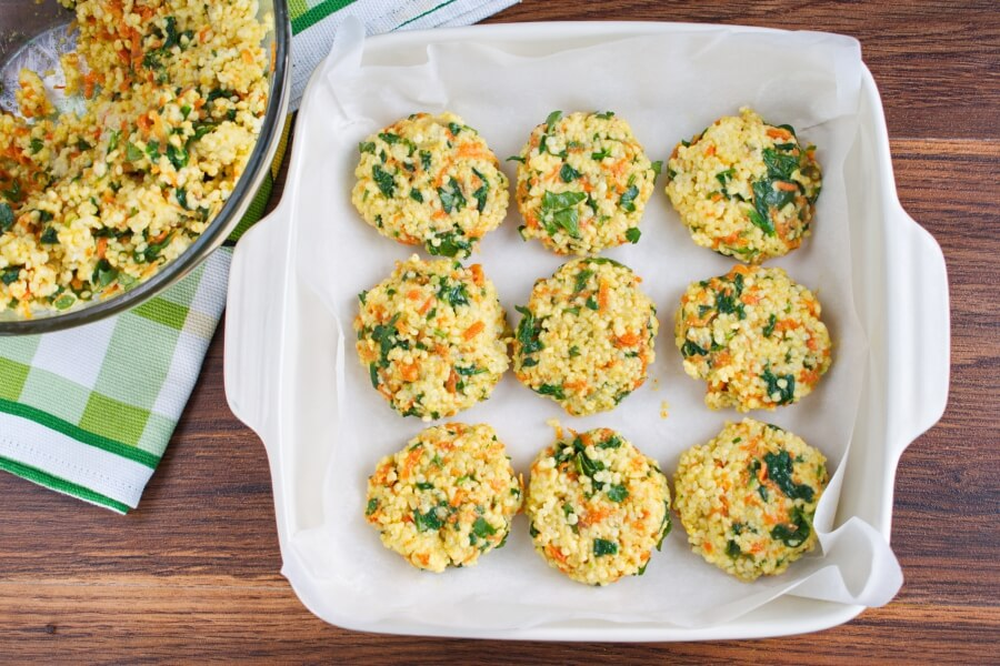 Millet Cakes with Carrots & Spinach recipe - step 7