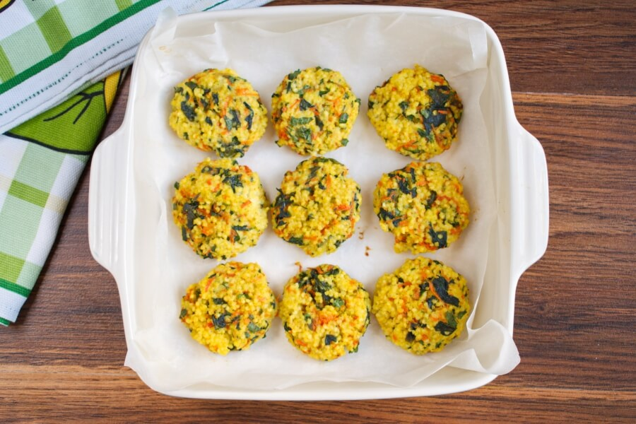 Millet Cakes with Carrots & Spinach recipe - step 8