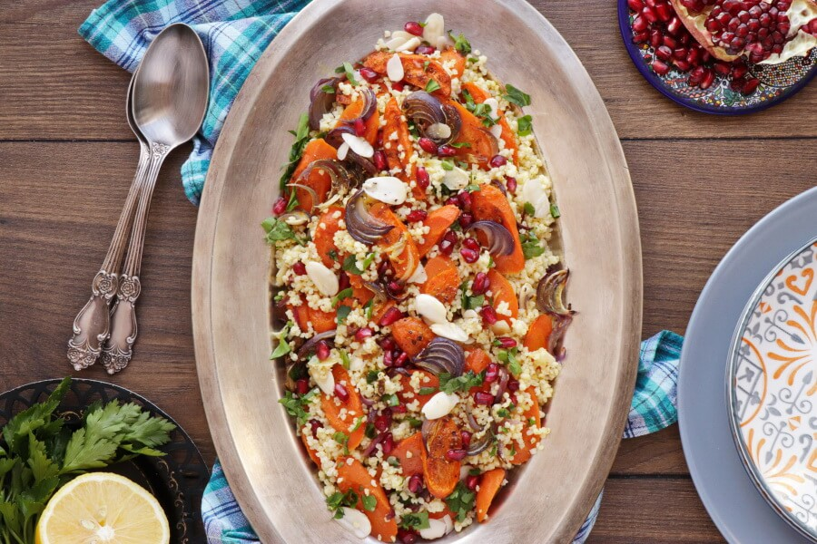 How to serve Moroccan Carrot Salad with Millet