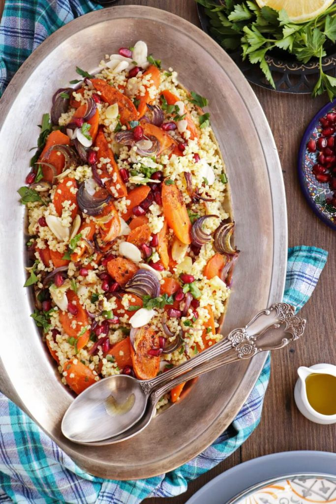 Moroccan-Spiced Salad with Millet and Pomegranate