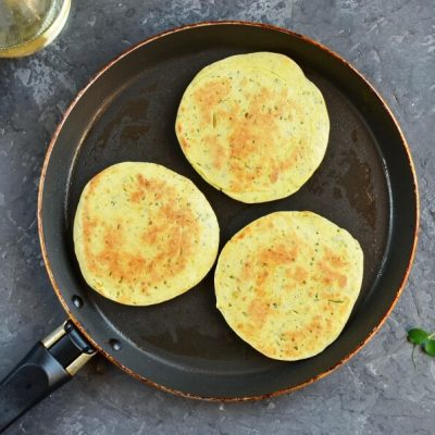 Pea Shoot Savory Pancakes recipe - step 4