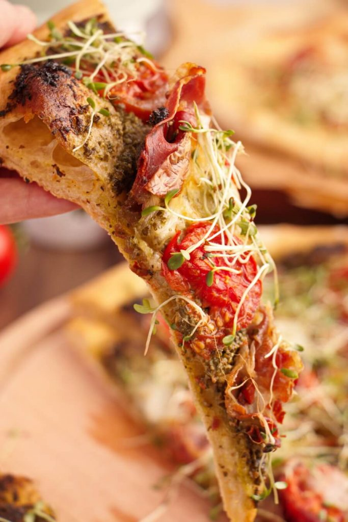 Healthy Microgreens Pizza