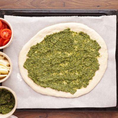 Pizza with Pesto, Mozzarella, and Microgreens recipe - step 4