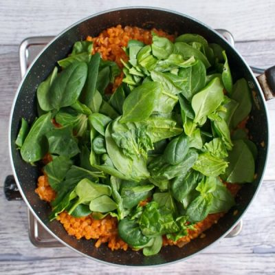 Red Lentil and Spinach Masala recipe - step 6