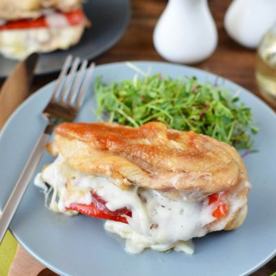 Red Pepper, Mozzarella, and Pepperoni Recipe-How To Make Stuffed Chicken-Red Pepper, Mozzarella, and Pepperoni-Stuffed Chicken-Delicious Red Pepper, Mozzarella, and Pepperoni-Stuffed Chicken