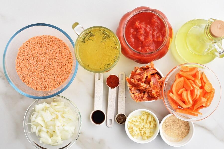Red lentil & chorizo soup Recipes-Homemade Red lentil & chorizo soup-Delicious Red lentil & chorizo soup