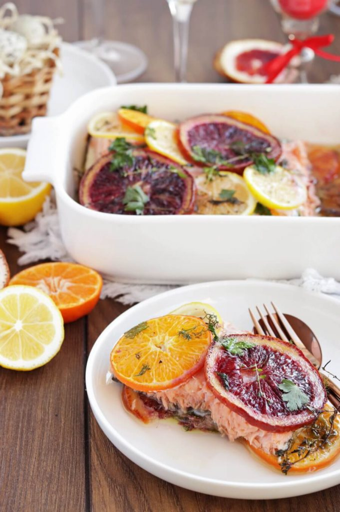 Citrus and Herb Roasted Salmon
