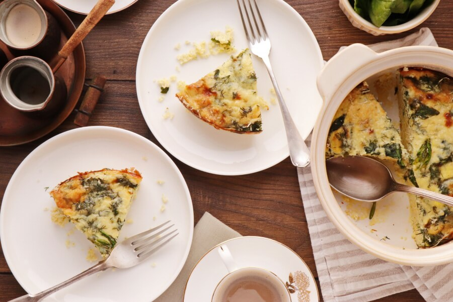 How to serve Spinach Millet Egg Bake