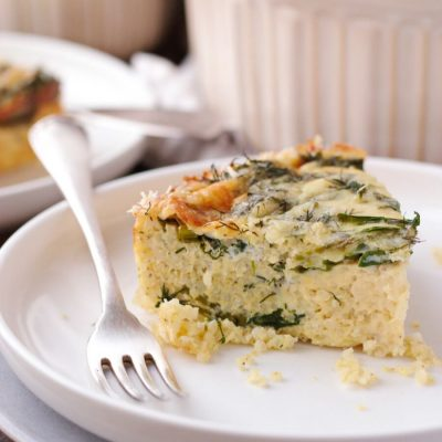 Spinach Millet Egg Bake Recipe-Vegetarian Baked Millet Casserole-Easy Breakfast Casserole