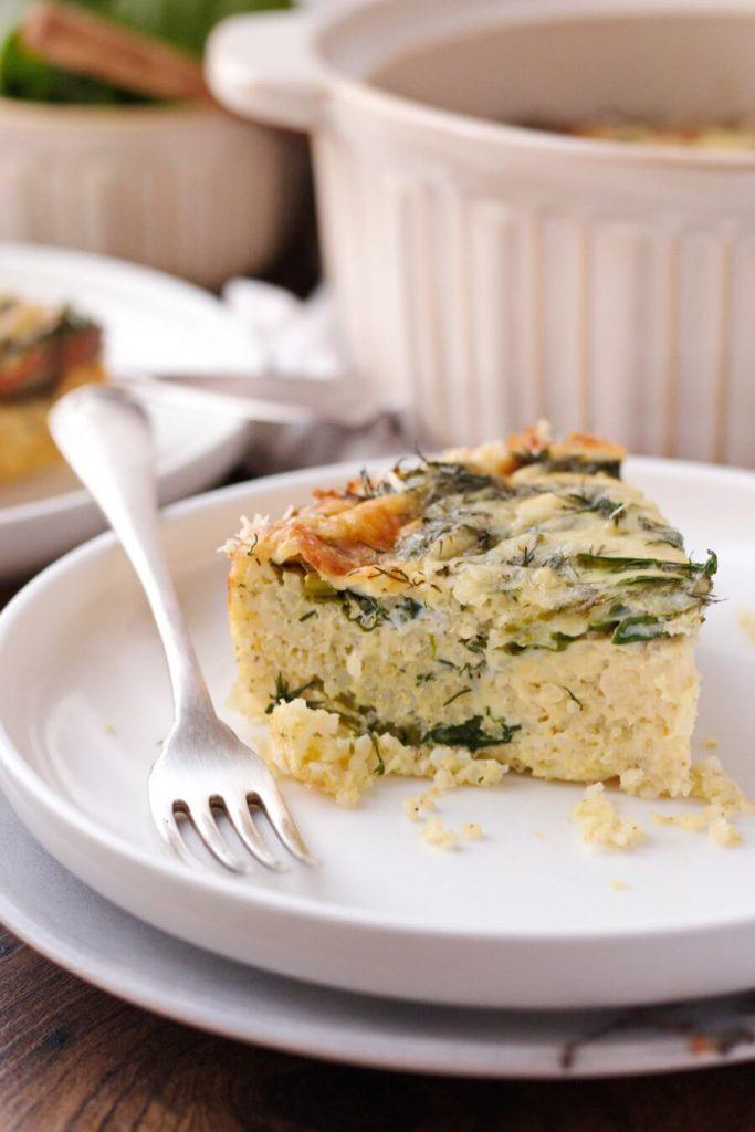 Spinach Millet Egg Bake