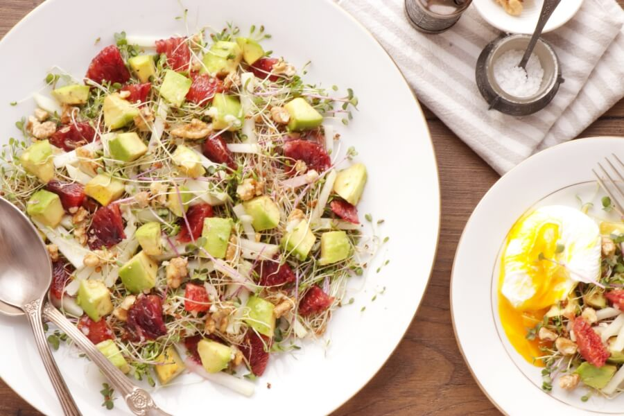 Spring is Almost Here Salad Recipe-Healthy Microgreens Salad-Fresh Spring Salad