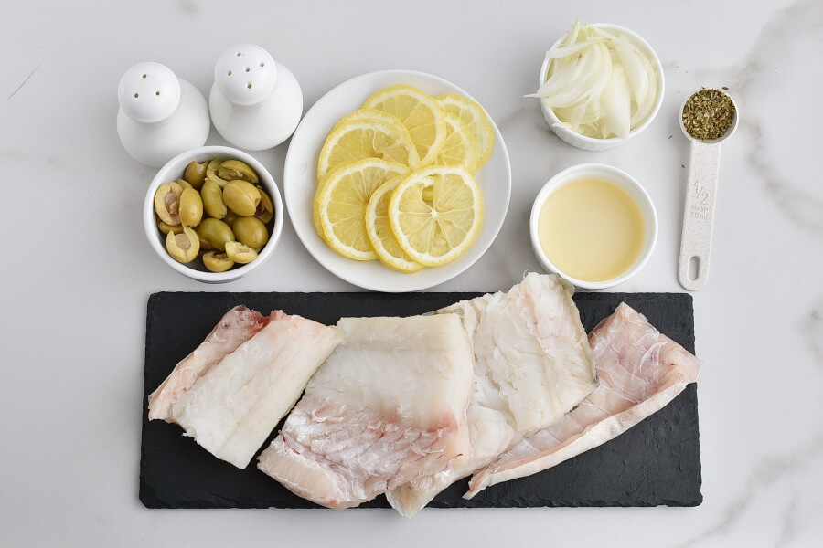 Ingridiens for Stuffed-Olive Cod