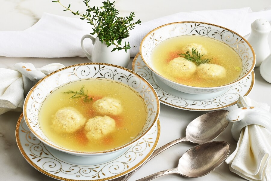 How to serve The Best Matzo Ball Soup