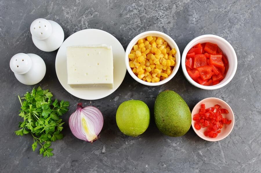 Ingridiens for Vegetarian Ceviche Salad