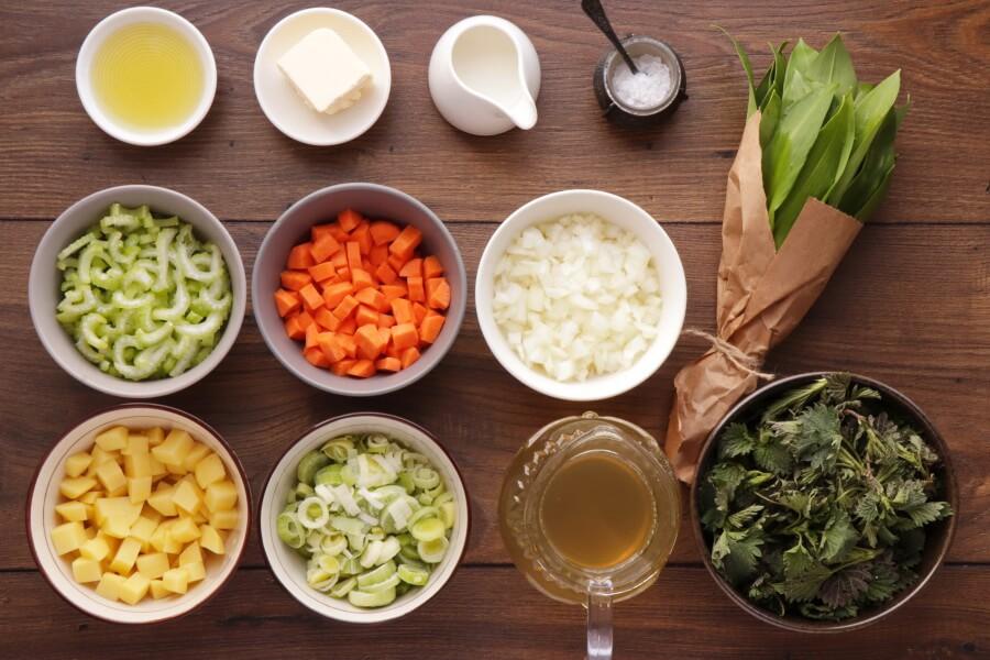 Wild Garlic & Nettle Soup Recipe-How to Make Wild Garlic Nettle Soup-Easy Healthy Spring Soup