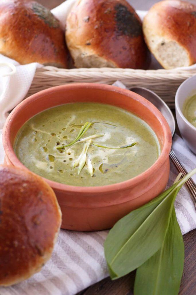 Wild Garlic & Nettle Soup