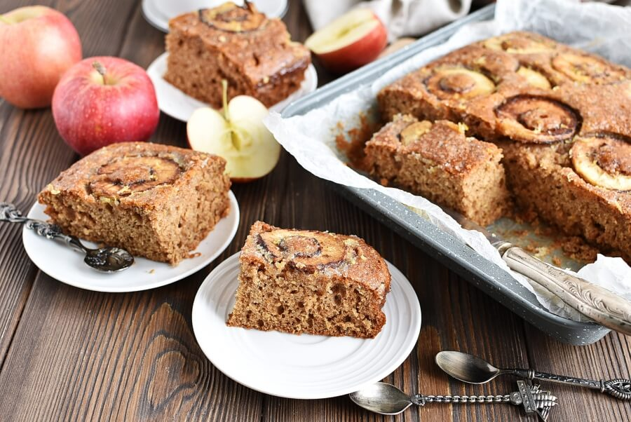 How to serve Apple, Cinnamon and Ginger Drizzle Cake