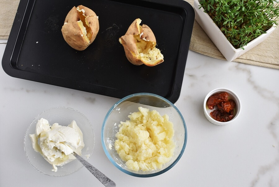 Baked Potatoes with Cream Cheese recipe - step 4