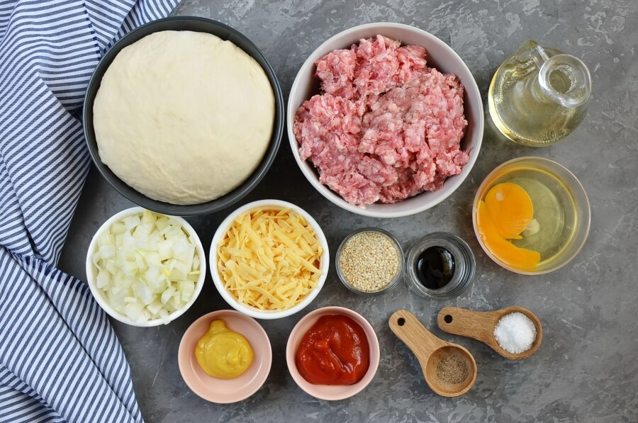 Ingridiens for Beef and Cheese Empanada