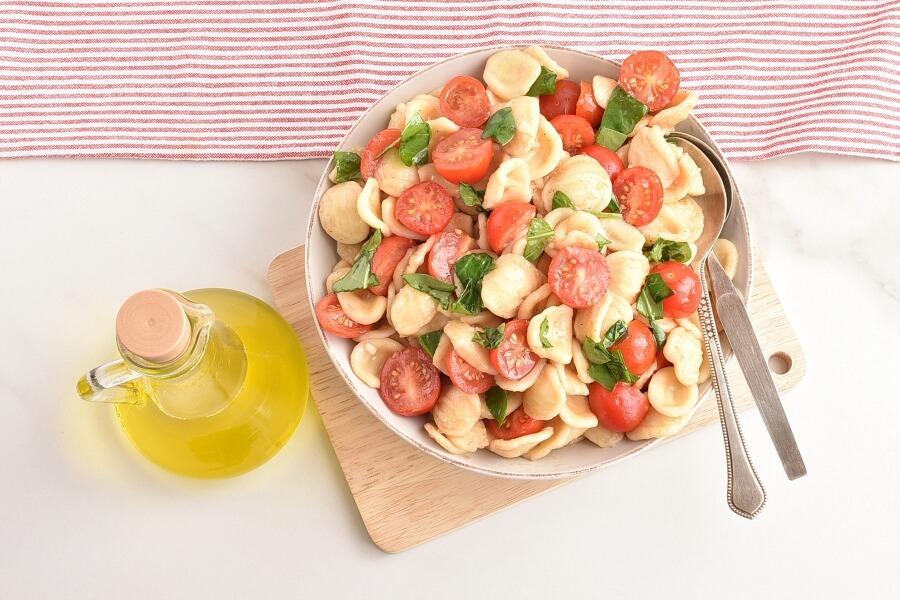 How to serve Bruschetta Pasta Salad
