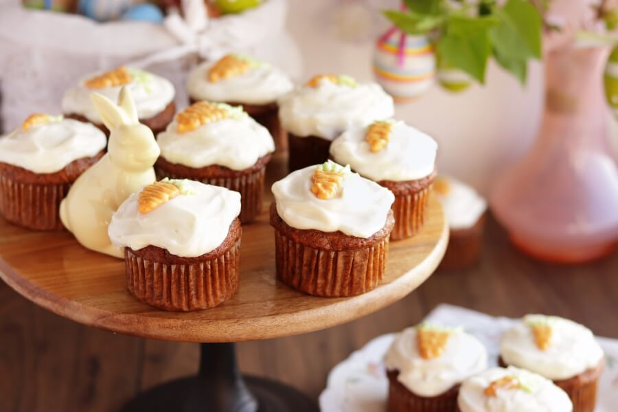 How to serve Carrot Cupcakes with Honey Cream Cheese