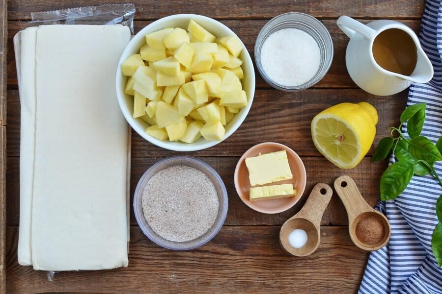Ingridiens for Churro Apple Pies