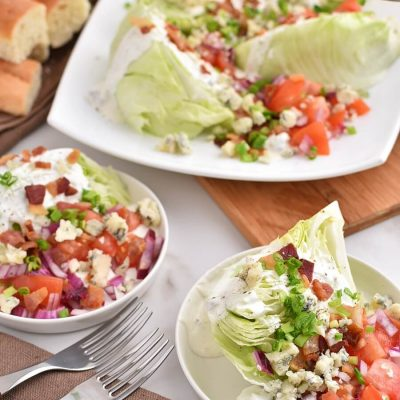 Classic Wedge Salad Recipes-Homemade Classic Wedge Salad-Easy Classic Wedge Salad