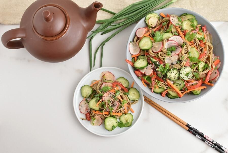 How to serve Cold Soba Noodle Salad