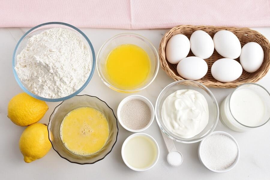 Ingridiens for Italian Easter Bread