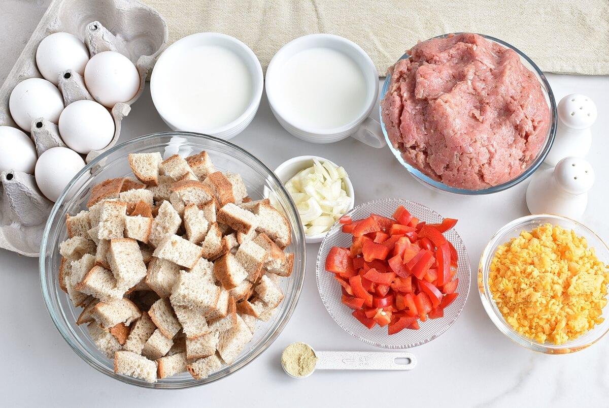 Ingridiens for Easy Breakfast Strata