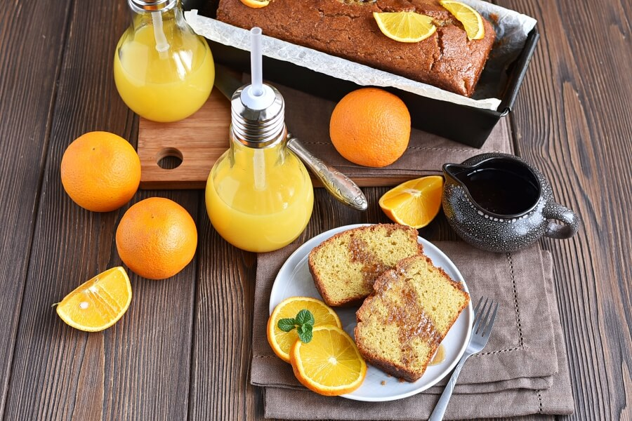 How to serve Gluten Free Orange Drizzle Cake