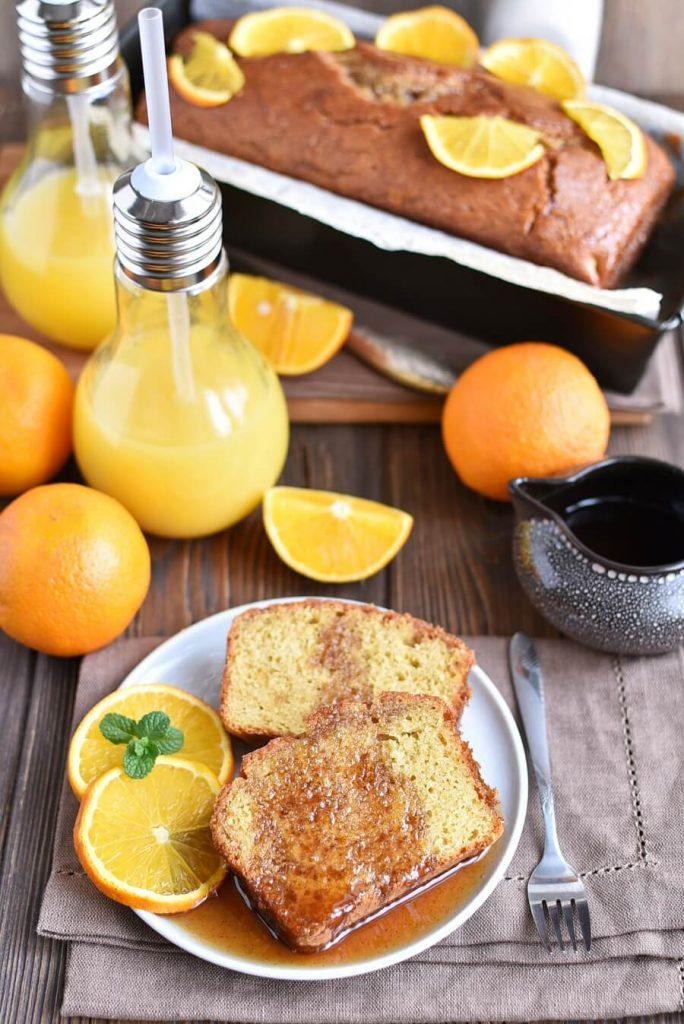Gluten Free Orange Drizzle Cake